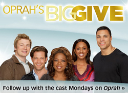 Judges for OPRAH'S BIG GIVE